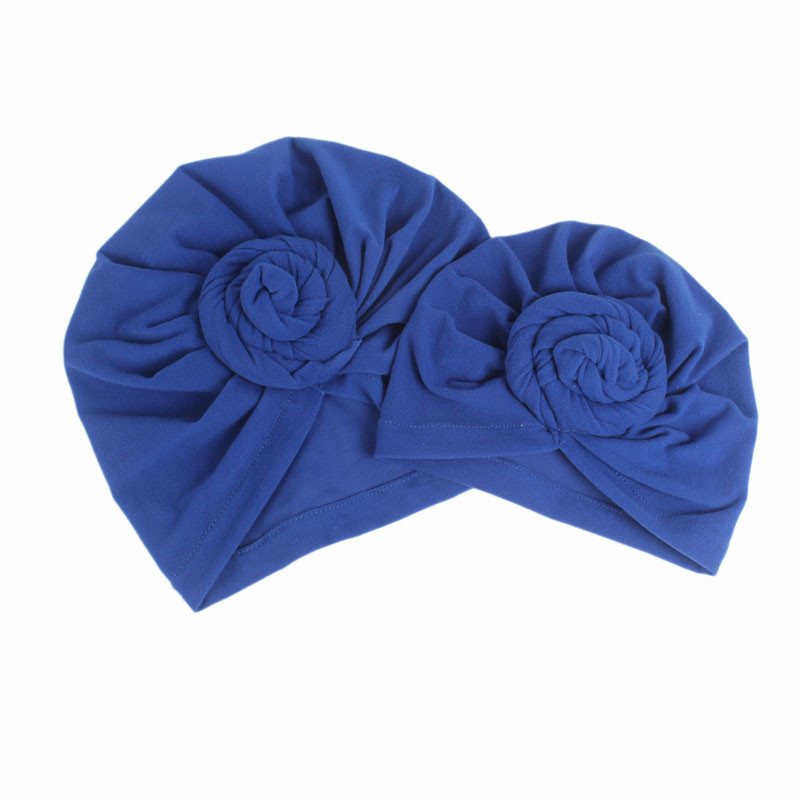 Headscarf child Unisex Infant Toddler Twist Knotted Turban Beanie Headwrap Parent-child cap India mom and me baby hats sets