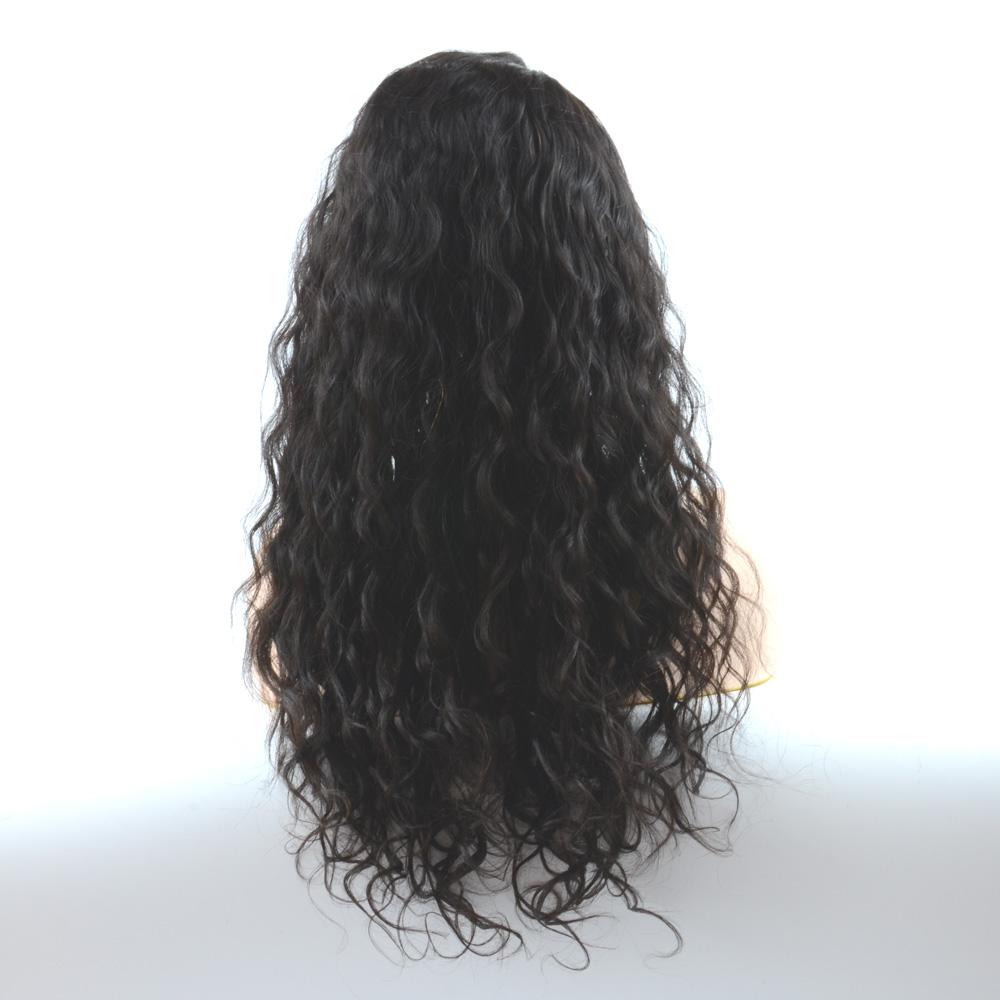 ที่ดีที่สุดคุณภาพ Glueless Virgin Peruvian Human Hair Afro Kinky Curly lace ด้านหน้าวิกผม