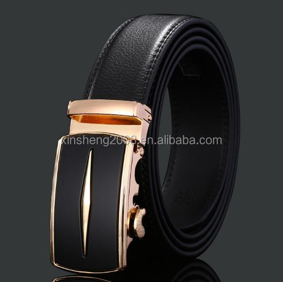 2019 Fashion Business Gift Fashion Cow Leather Belt with Automatic Buckle for Male
