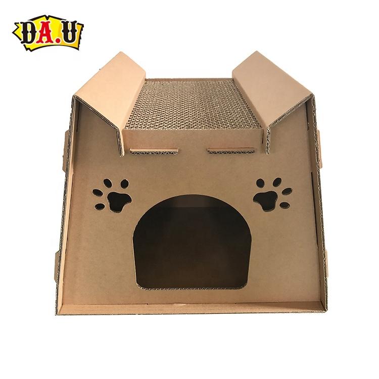 Экологичный бумажный скребок для кошек, картонный домик для кошек для игр и отдыха
