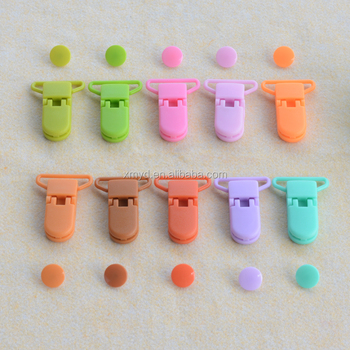 10 New Colors 25mm KAM Suspender Clips, Plastic Alligator Clips for Baby Pacifier Holder