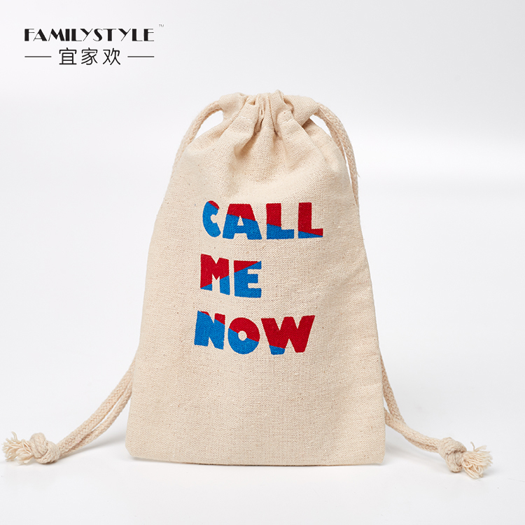 Custom Microfiber Cotton Drawstring Bag with Logo for Phone
