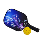 Silk Pickleball Paddle Top Quality Professional Manufacturer Carbon with Blue Red Silk Aramind Honeycomb Factory Price Customized Pickleball Paddle