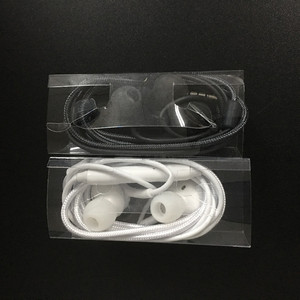 Insert earphones wired for samsung Galaxy S8 S7 S6 wholesale white and black stereo earbuds