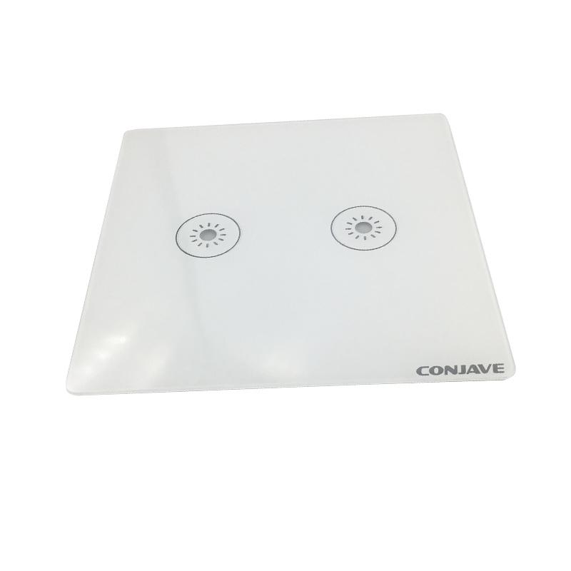 Goedkope Custom Wall Touch Schakelaar Gehard Kristallen Glazen Paneel Hoge Sterkte Kras Weerstand Gehard Glas