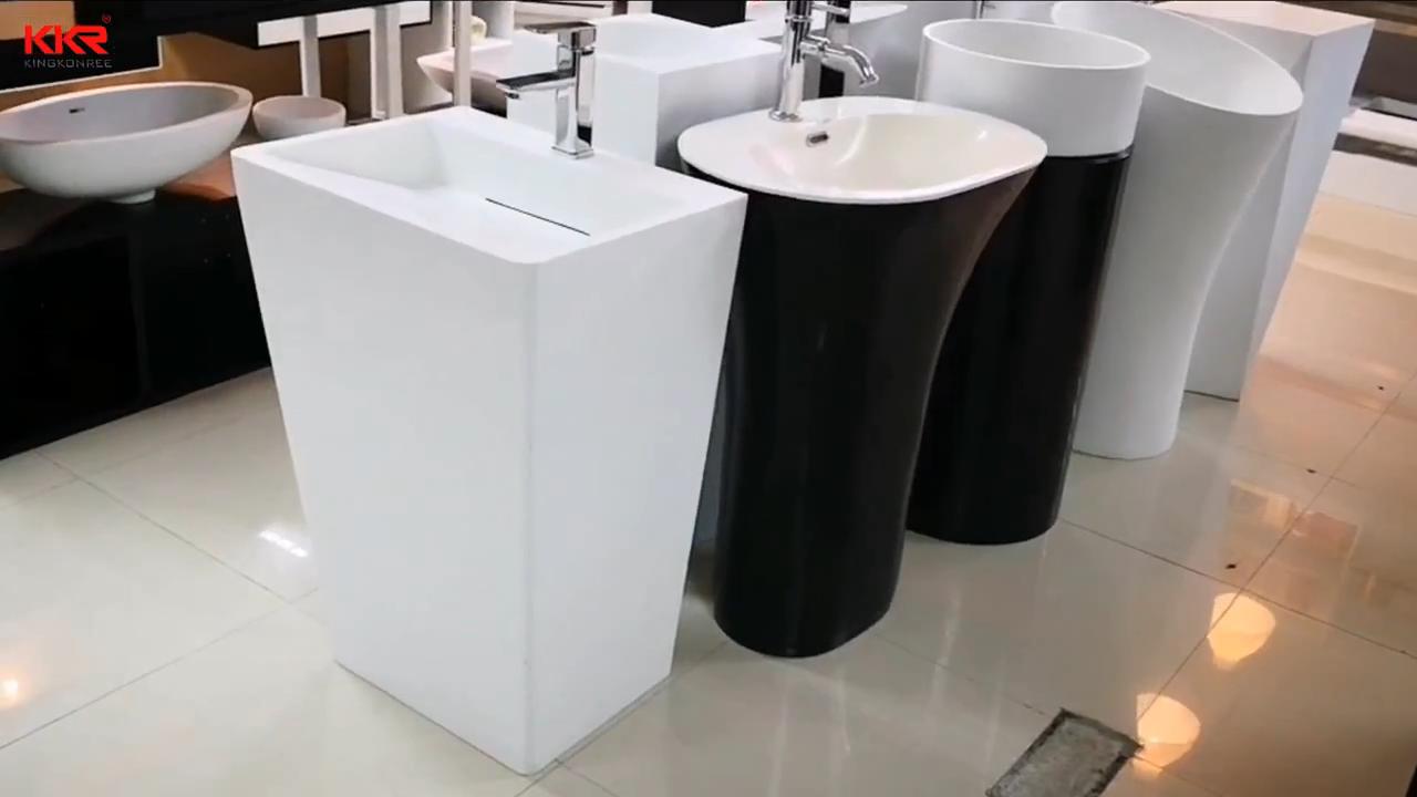 เพชรอะคริลิค Solid Surface อิสระอ่างล้างหน้าหรืออ่างล้างมือฐาน