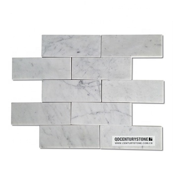 3 by 6 Italy bianco carrara white marble polished subway tile