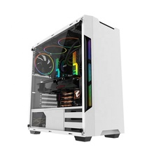 Flowing RGB Blet in the middle of front panel with control button computer cases towers