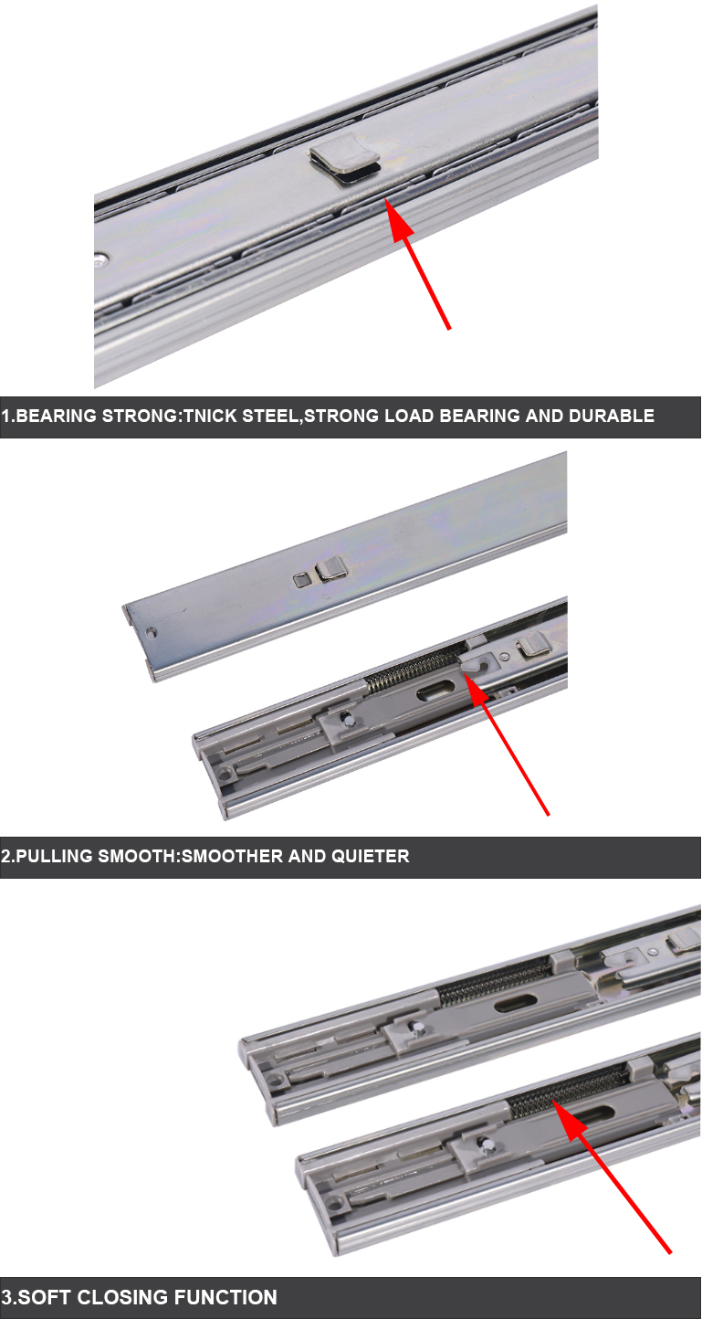 soft close ball bearing drawer slides