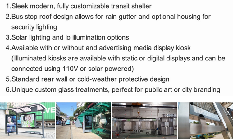 product-2020 Customized outdoor advertising bus stop bus shelter-YEROO-img