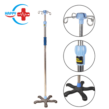 HC-M094 Hot sale Stainless Stand medical hospital IV pole stand infusion pole can adjust height