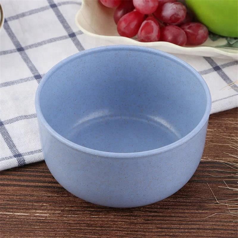 Venditore caldo degradabile paglia di grano bowl set, colorato ciotole di plastica in fibra di grano