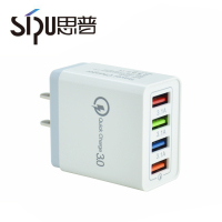 SIPU Colorful EU US 4 Port USB Chargers Fast Charging QC 3.0 Travel USB Wall Charger