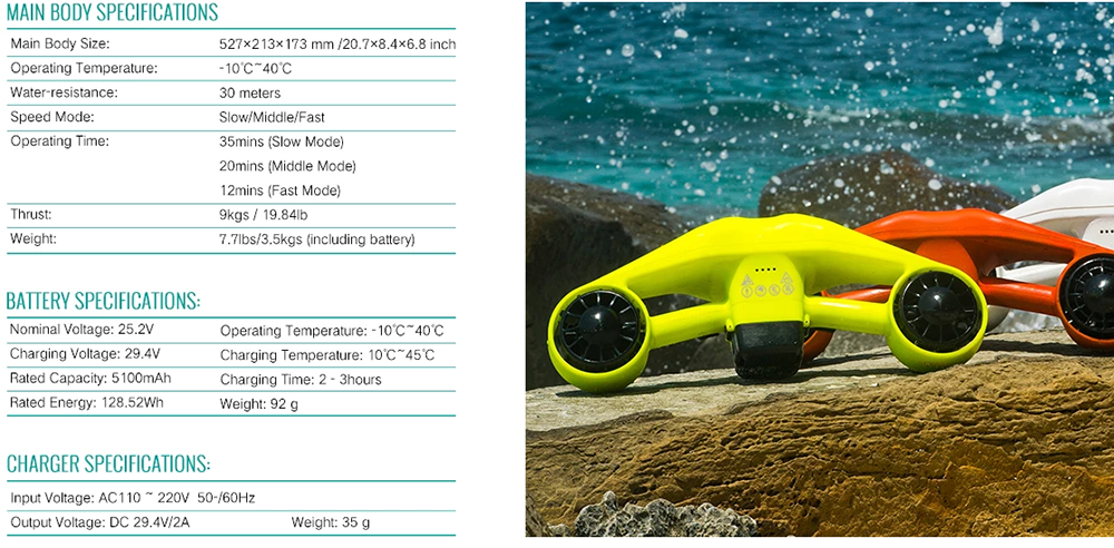 Swimming & Diving Products New design underwater scooter sea scooter Manufacture