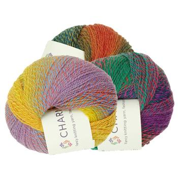 Charmkey multripe colors 80%superwash wool 20%Nylon Tweed yarn for hand knitting yarn