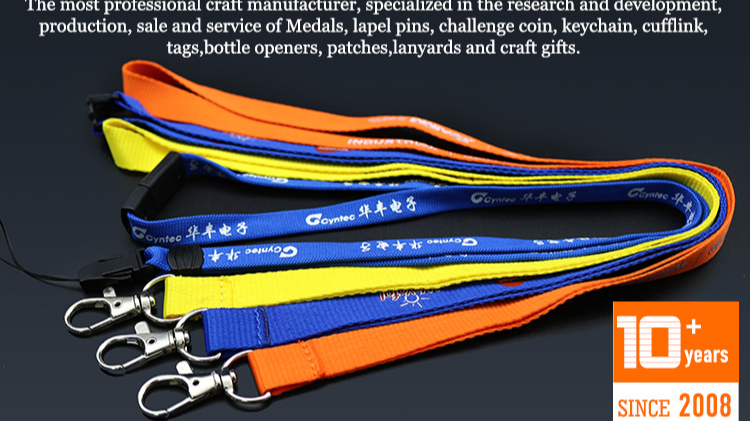 Hot sale fashion design custom flat polyester silk screen printing airline airbus air lanyard strap with release buckle