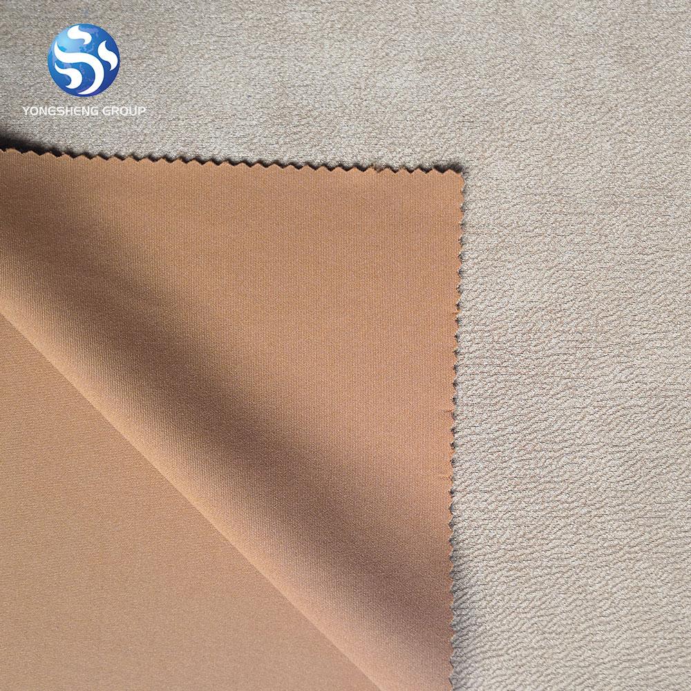100% poliestere ordito lavorato a maglia alla moda bronzato pelle scamosciata In Pelle come tessuto per divano, auto, vestito, abbigliamento