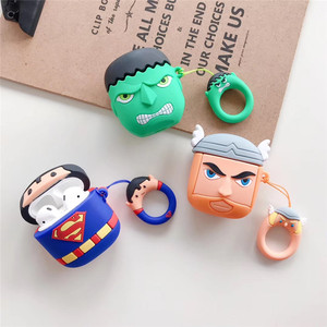 Marvel Superhero Series Apple AirPods Case Cartoon Silicone 3D Strap Earphone Case Cover for Apple AirPods Case
