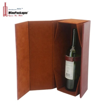 OEM Foldable wine gift box with magnetic closure