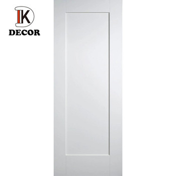 Classic design one panel shaker style White painted Bedroom Single Doors Interior solid wood Doors