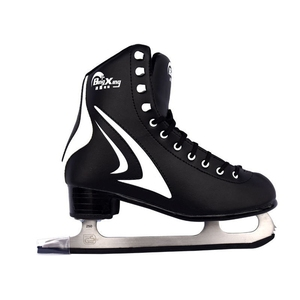 BING XING PVC Upper Rubber Stainless Steel Unisex Figure Skating Ice Skates Shoes