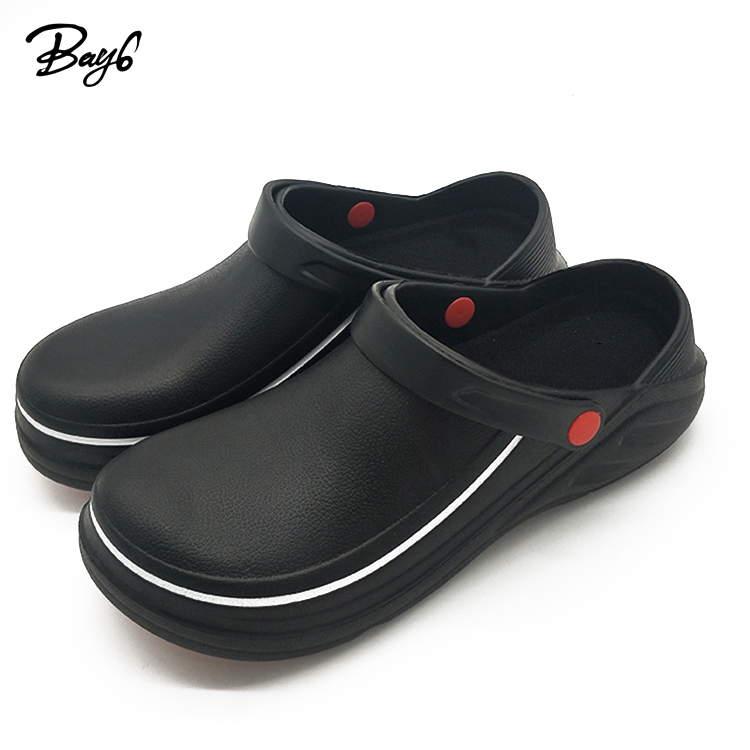 Fashion Customizable Hotel Nurse Chef Clog Kickers Safety Shoes Man