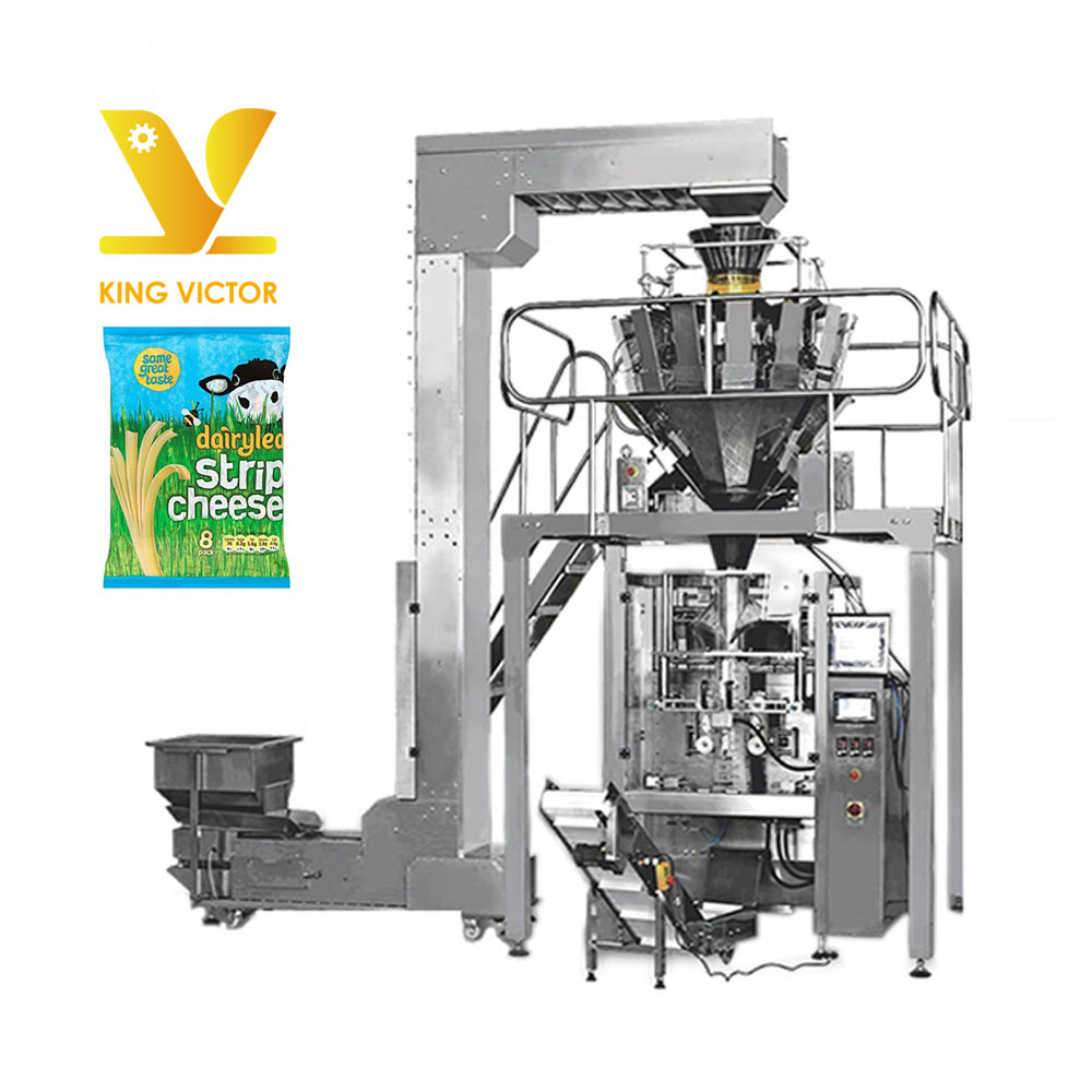 10 heads weigher frozen cheese packing machine manufacturer
