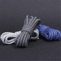 hot selling yeezy polyester shoelaces custom wholesale sport casual shoelaces reflective round shoe laces