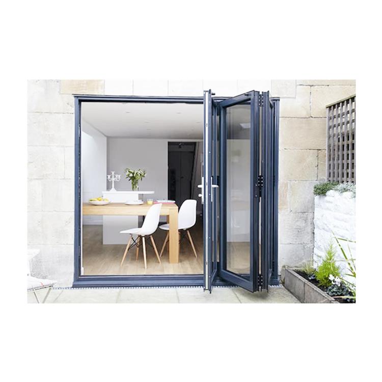 balcony horizontal bi-fold patio decorative door interior decorative aluminum frame glass Bi-fold Doors for bathroom