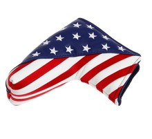 <span class=keywords><strong>USA</strong></span> Vlag Putter Cover PU Lederen Golf Headcover Blade