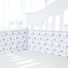 Hot selling style crib bumpers 100% cotton comfortable crib bumper
