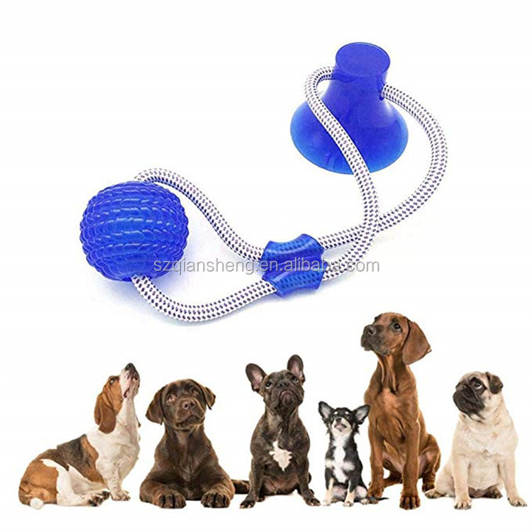 Multifunction Pet Molar Bite Dog Toys  Suction Cup Dog Biting Toy