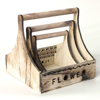 Hot Selling Outdoor Garden Wooden Rectangular Vegetable Planter Box gor flower with handle