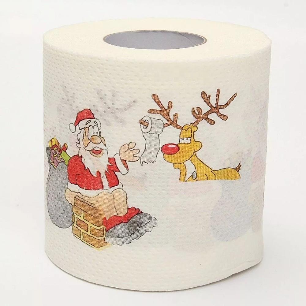 Papier toilette personnalisé, livraison gratuite, pour noël, quantité minimale de commande mc/MOQ