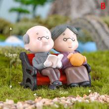 1/2 шт. Дедушка бабушка милые влюбленные пара миниатюрные садовые пейзажи смола сад жениха и невесты миниатюрные украшения для дома(Китай)