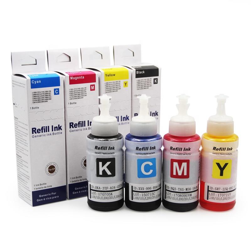 Ocbestjet Water Besed Dye Ink Cheap Ink For Epson L312 Dye Ink For L300 L120 L100 L101 L110 L200 L201 L210 L220 L350 L355