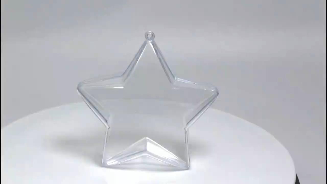 Summer Hottest Clear Plastic Christmas Star Balls