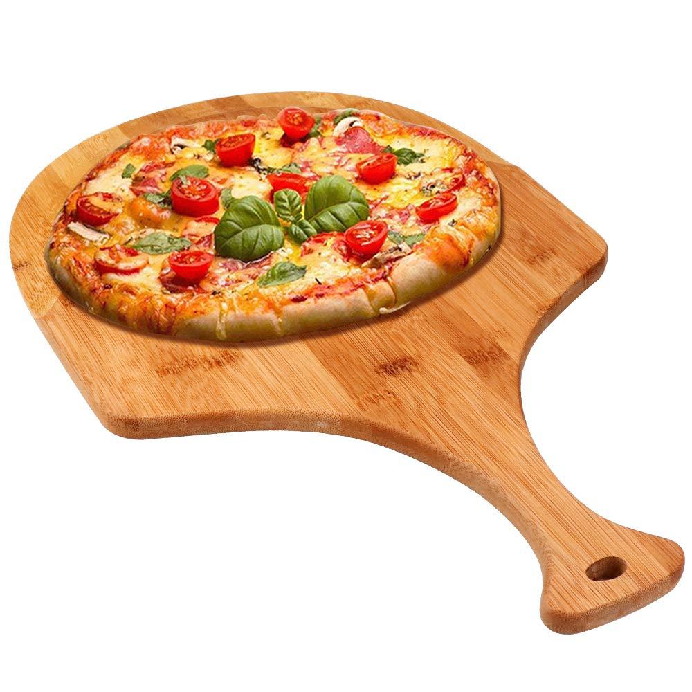 Bambus Holz Pizza Peel Pizza Paddle Zubehör werkzeug für Pizzas Portion und Schneiden