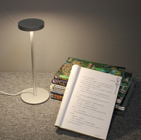 Modern simple design portable LED table lamp electric power source bedside book light with rock switch