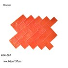 Herringbone brick concrete form stamp mats plastic mould for paving of house street and garden