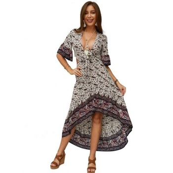 high quality bohemian dress printed women's clothing online sale