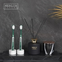 Italian Marble decor toothbrush holder Fragrance bottle set for home decor luxury pieces Modern home decoration accessories item