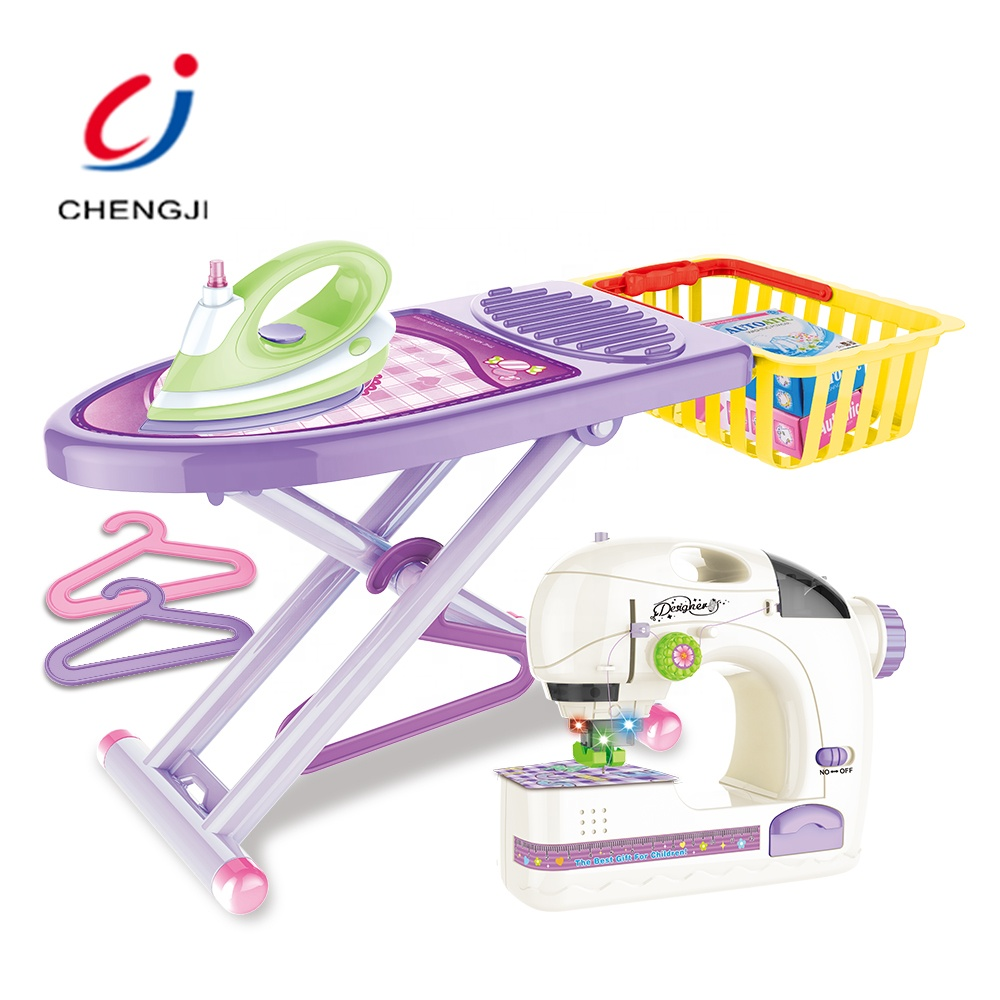Girl pretend preschool sewing machine cleaner mini toys furniture appliances sets for girls