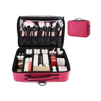 Custom Makeup Case With Professional Storage Partition Multi-function Portable Large And Small Customized Cosmetic Case