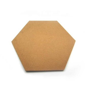 20mm thick x 300mm Side Long Hexagon Shaped Unframed Natural Cork Board for wall bulletin