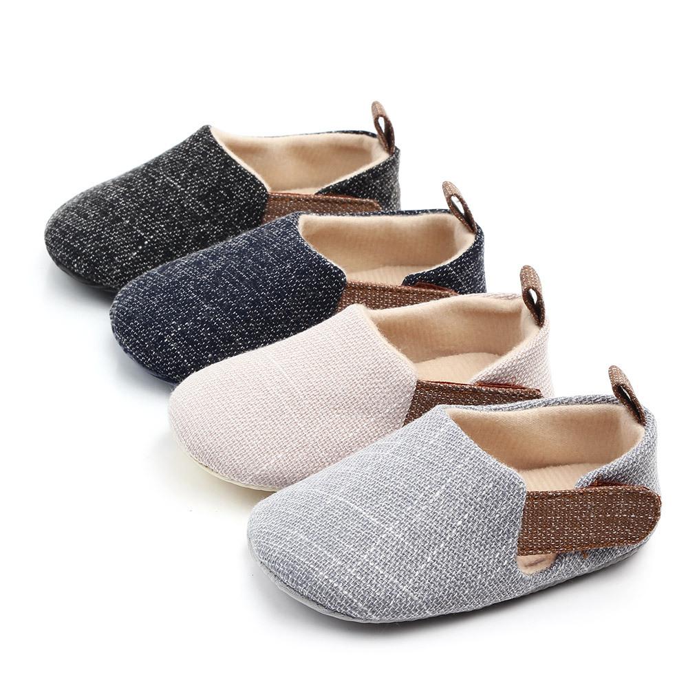 Çin Fabrika rahat Tuval yumuşak taban ucuz erkek bebek bebek ayakkabısı