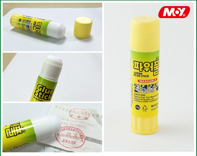 Factory Supply Custom brand Accept High Viscosity non toxic paper bonding PVA PVP Glue stick for school and Office