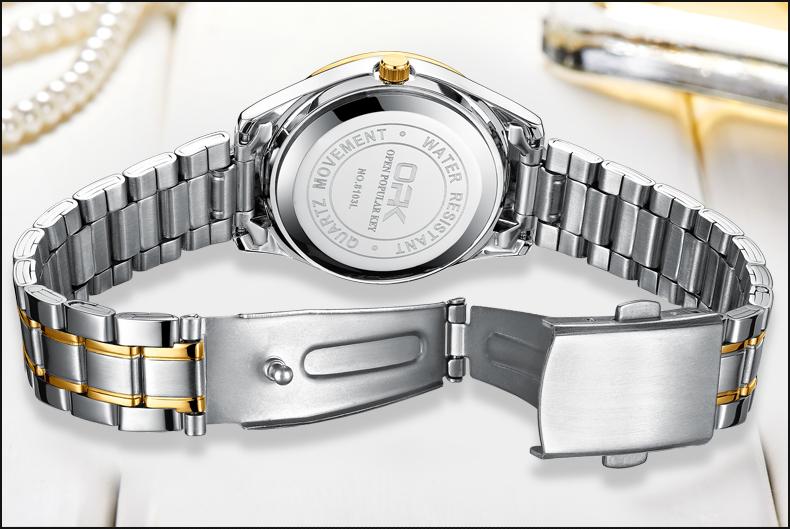 Men and Women Fashion Stainless Steel Set Watches Fashion Luxury Wristwatch Date Day Quartz Lover's Couple Watch
