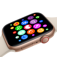 W54 Drahtlose lade voice control siri smart uhr serie 4 bluetooth musik sensor monitor herz rate für iphone und android