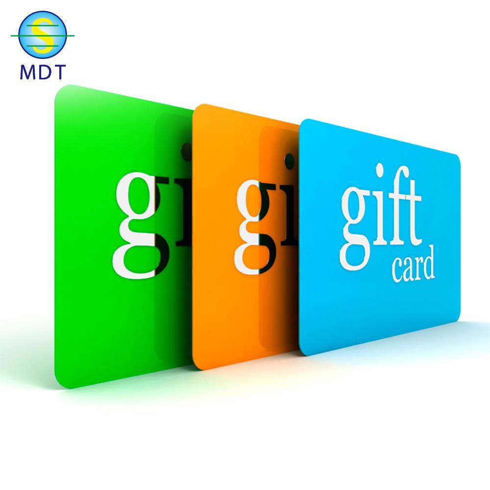 طباعة بطاقة هدية بلاستيكية الأعمال المطبوعة